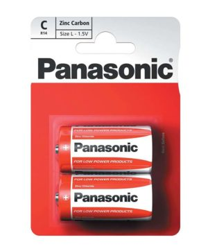 Batteries Panasonic R14R Battery - C - Card of 2