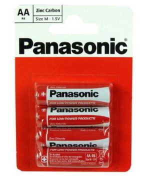 Batteries Panasonic R6R Battery - AA - Card of 4