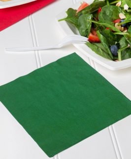 Christmas Napkins 2 Ply Green Pack of 50