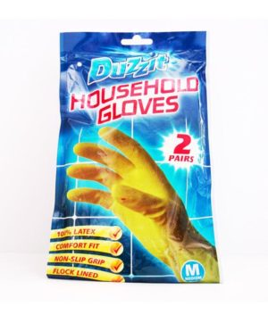 Rubber Gloves Medium Size Pack of 2 Pairs DZT1024A