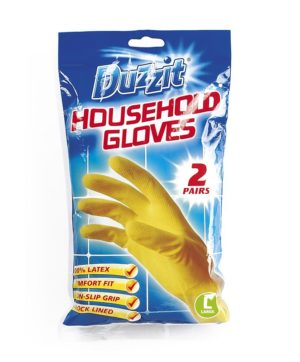 Rubber Gloves Large Size Pack of 2 Pairs DZT1020A