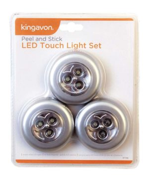 Touch Lights LED Peel & Stick Set of 3 HD