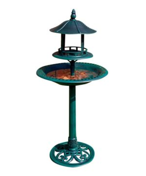 Garden Bird Bath & Feeder Resin Ornamental 112cm BP