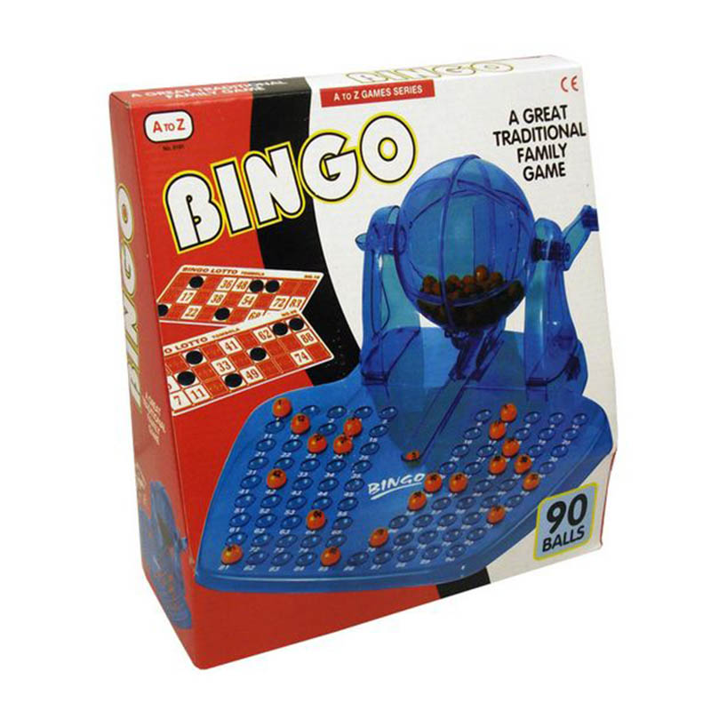 Toy Family Bingo-Lotto Game With Spinner Drum