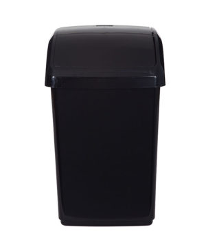 Swing Bin 10 Litre Black Whitefurze