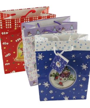 Xmas Bag Snowstorm Gloss Laminated