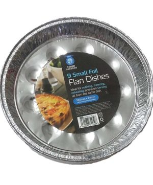 Foil Flan Dishes ZM 8 inch diameter Set of 8 ZM