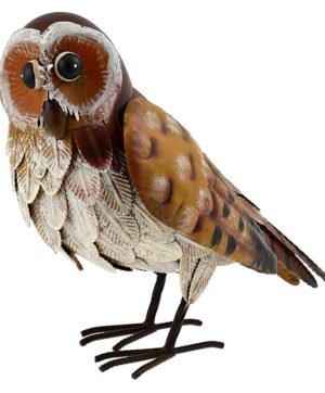 Green Jem Metal Owl Garden Decoration