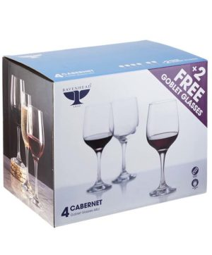 Ravenhead Cabernet Goblet 6 For 4 44cl