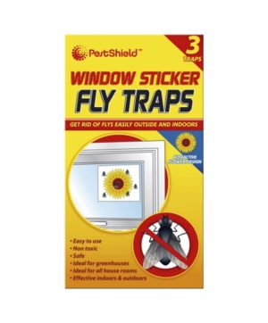 Window Fly Trap Stickers 3pk