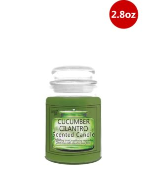 Jar Candle With Lid 2.8oz Cucumber Cilantro
