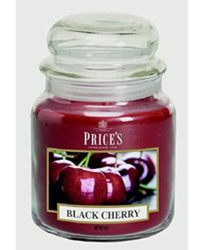 Prices Med Jar Candle Black Cherry