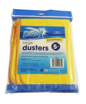 Dusters Large 5pk Soft and Strong Duzzit