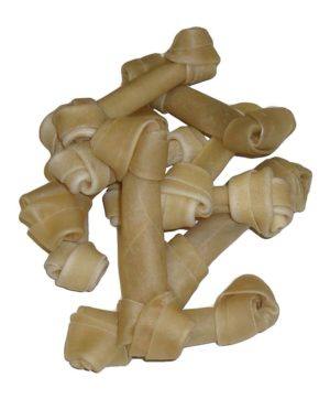 Dog Chew Hide Knotted Bone 20pk 6-6.5 Inch