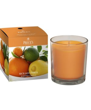 Prices Boxed Jar Candle Sicilian Citrus