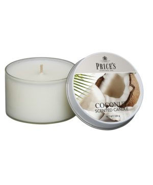 Prices Tin Scented Candle Coconut