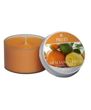 Prices Tin Scented Candle Sicilian Citrus