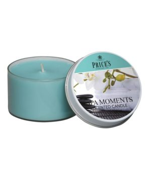 Prices Tin Scented Candle Spa Moments