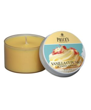 Prices Tin Scented Candle Vanilla Cupcake