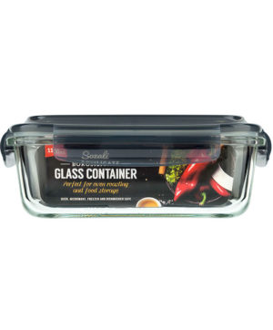 Glass Clip Lock Container Vent Large 1100ml
