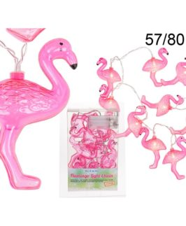 Light Chain Flamingo Design With 10 Led Lights