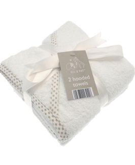 Baby Hooded Towel Cotton Twin Pack Printed