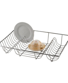 Large Flat Dish Drainer Chrome