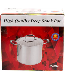 Stock Pot Stainless Steel 24cm
