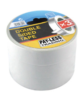Tape Double Sided 3 Roll Pack 24mm x 10m Payless
