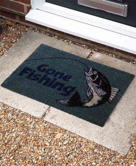 Door Mat Coir Gone Golfing/ Fishing 40x60cm 2 asstd