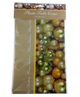 Christmas PVC Wipe Clean Tablecloth Cover 120cmx180cm
